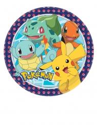8 Assiettes en carton Pokémon™ 23 cm