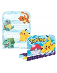 8 Invitations & Enveloppes Pokémon™