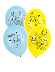 6 Ballons en latex Pokémon™ 30 cm