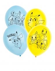 6 Ballons en latex Pokémon™ 30 cm