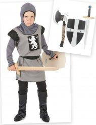 Pack déguisement de chevalier garçon avec accessoires