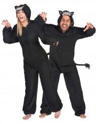 Déguisement de couple panthère noire adultes