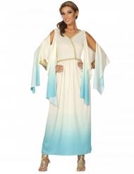 Déguisement déesse grec blanc et bleu femme