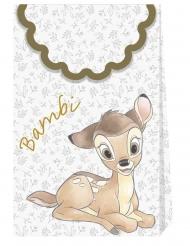 6 sacs cadeaux en carton premium Bambi™ 21 X 13 cm