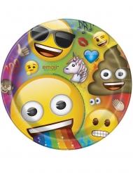 8 Assiettes en carton Emoji Rainbow™ 23 cm