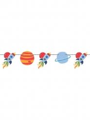 Guirlande en carton univers et fusée 1,5 m
