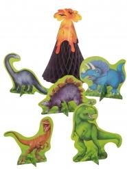 6 Centres de table en papier dinosaures 35,5 cm