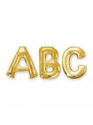 Ballon aluminium lettre doré 35 cm