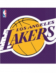 16 Serviettes en papier Lakers™ 33 x 33 cm