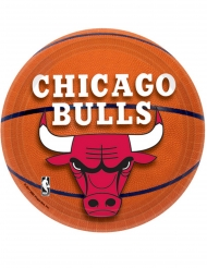 8 Petites assiettes en carton Chicago Bulls™ 18 cm