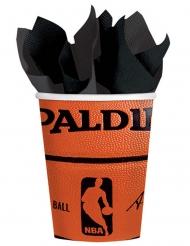 18 Gobelets en carton NBA Spalding™ 266 ml