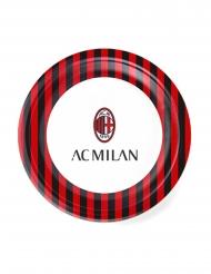 8 Assiettes en carton AC Milan™ 23 cm