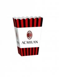 4 Boîtes popcorn en carton AC Milan™ 13,5 x 8,5 x 19 cm
