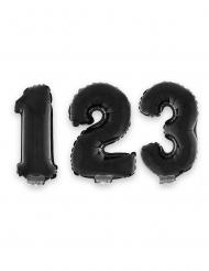 Ballon aluminium chiffre noir 40 cm