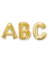 Ballon aluminium lettre dorée 86 cm