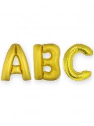 Ballon aluminium lettre dorée 1m