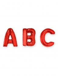 Ballon aluminium lettre rouge 1 m