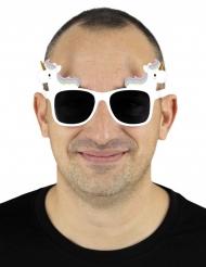 Lunettes licorne blanche adulte