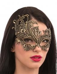 Masque or en tissu macramé adulte