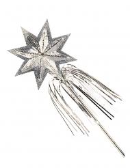 Baguette de fée étoile argent