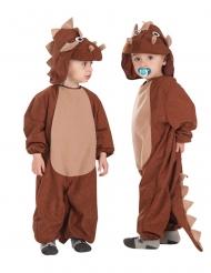 Déguisement combinaison triceratops enfant