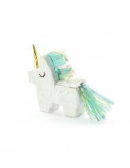 Mini piñata licorne blanche 8 x 2,5 cm