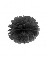 Pompon à suspendre en papier noir 35 cm