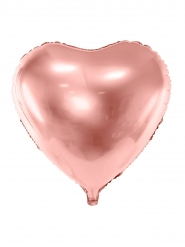 Ballon aluminium cœur rose gold métallisé 45 cm