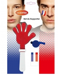 Kit accessoires et maquillage supporter France