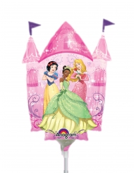 Petit ballon en aluminium château de Princesses Disney™ 25 x 33 cm