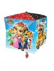 Ballon en aluminium cube Super Mario Bros™ 38 x 38 cm