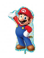Ballon en aluminium Super Mario™ 55 x 83 cm