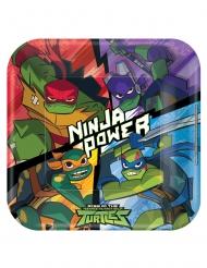 8 Assiettes en carton carrées Le Destin des Tortues Ninja™ 23 x 23 cm