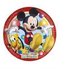 8 Petites assiettes en carton Mickey Mouse™ 20 cm