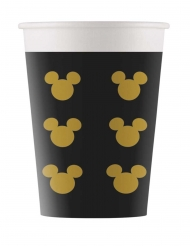 8 Gobelets en carton Mickey Gold™ 160 ml