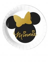 8 Petites assiettes en carton Minnie Gold™  20 cm