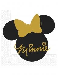 20 Serviettes en papier Minnie Gold™  33 x 33 cm