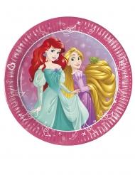 8 Petites assiettes en carton Princesses Disney Jour de Rêve™  20 cm