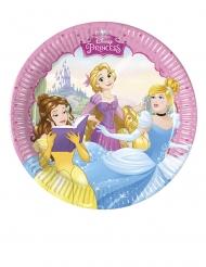 8 Petites assiettes en carton Princesses Disney™ cœurs 20 cm