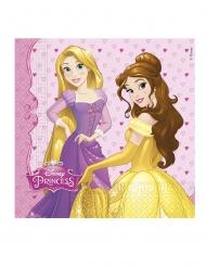 20 Serviettes en papier Princesses Disney™ cœurs 33 x 33 cm