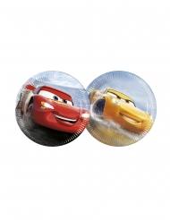 8 Petites assiettes en carton Flash McQueen & Cruz Ramirez Cars 3™ 20 cm
