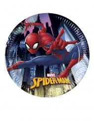 8 Petites assiettes en carton Spiderman™ 20 cm