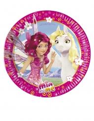 8 Petites assiettes en carton Mia & Me™ 20 cm