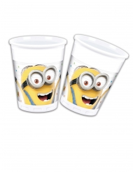 8 Gobelets en plastique Minions ballons party™ 200 ml