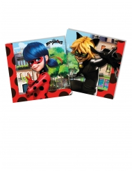 20 Serviettes en papier Miraculous Ladybug™ 33 x 33cm