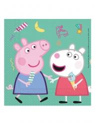 20 Serviettes en papier Peppa Pig™ 33 x 33cm