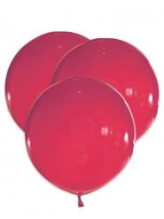 5 Ballons géants en latex rouges 47 cm