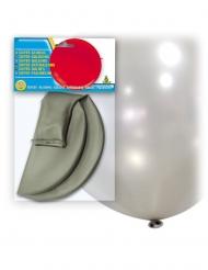 Ballon géant en latex argenté 80 cm