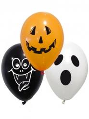 10 Ballons en latex spooky halloween 28 cm