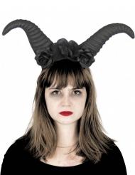 Serre-tête cornes maléfiques noires adulte